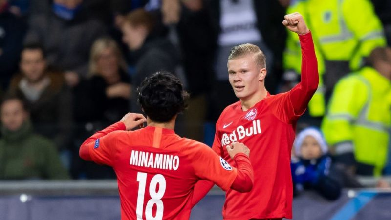(Image) Erling Haaland's message to Taki Minamino after breaking Premier League scoring duck