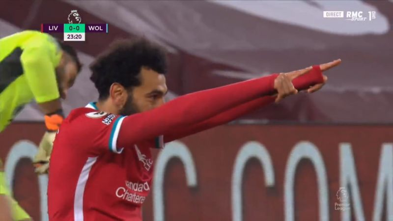 (Video) Salah capitalises on Coady error to draw first blood