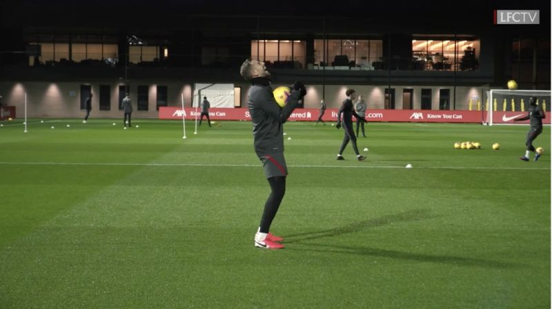 (Video) Hendo in stitches as Ox plays game in training in German