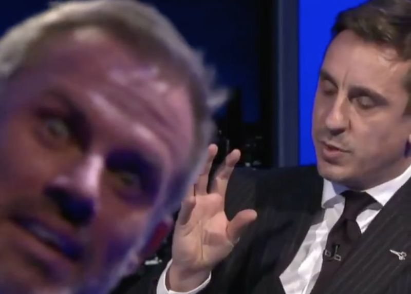 (Video) Unreal: Carra in absolute pieces on MNF as G-Nev picks Paul Pogba as 'One to Watch' in 2021