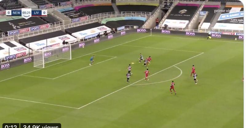 (Video) Mo Salah misses a sitter in 0-0 v Newcastle as 13-goal hero misses target