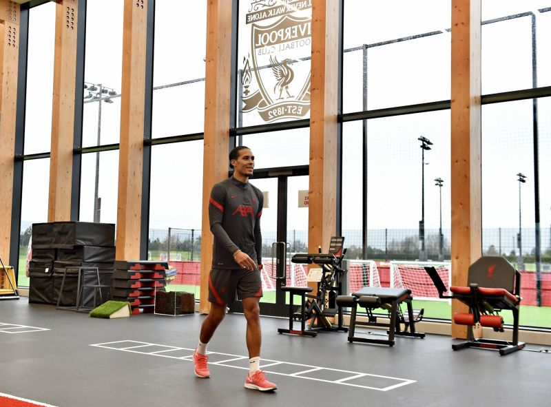 Van Dijk on road to recovery with return to training centre