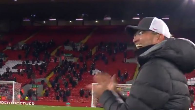 (Video) Klopp grins from ear-to-ear as the boss welcomes fans back to Anfield