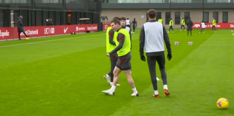 """(Video) """"Get in there!"""" – Milner celebrates after tackling Henderson in Liverpool training"""