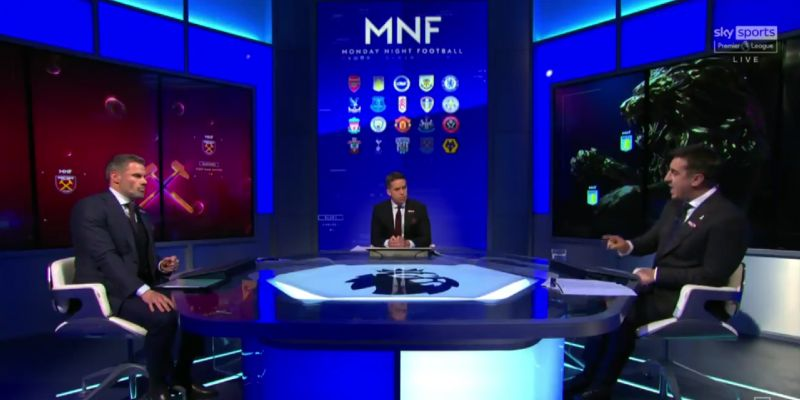 """(Video) Neville nails it on VAR; says referees haven't got """"the nerve"""" to disagree with Stockley Park in debate with Carragher"""