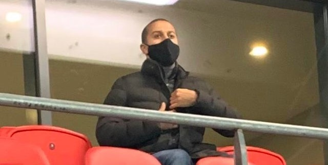(Photo) Thiago spotted watching on at Anfield as Liverpool thrash Wolves 4-0
