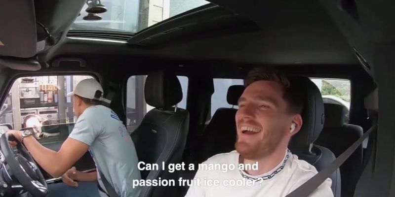 (Video) Trent orders drive-thru coffees in a Scottish accent with Robbo in the car as a forfeit