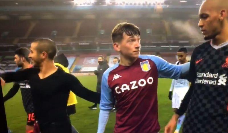 (Video) Hilarious moment Louie Barry realises he must settle for Fabinho's shirt