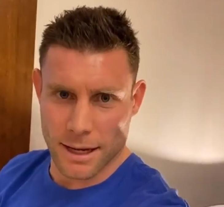 (Video) James Milner drops bizarre 'lockdown top 10' clip