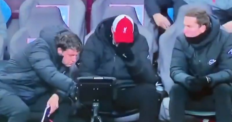 (Video) Klopp reacts to embarrassing Liverpool defending for Villa equaliser