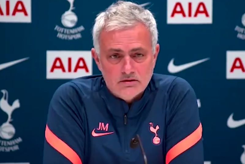 (Video) Jose Mourinho piles blame on Liverpool for Spurs' poor form