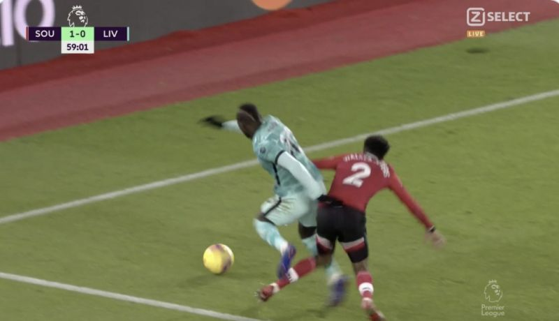 (Video) Sadio Mane fouled and not given penalty as refereeing decisions v Liverpool get even worse