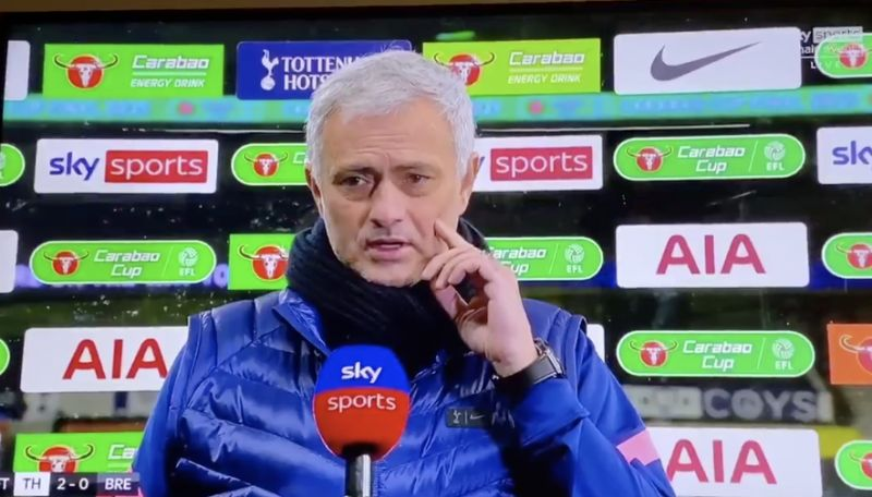 (Video) Many fans think Jose Mourinho has taken Klopp's side on penalties after post-match interview
