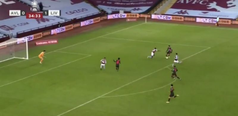 (Video) Mo Salah absolutely has to pass at 1-0, but shoots tamely instead v Aston Villa