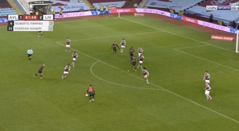 (Video) Sadio Mane's lovely header from Shaqiri assist puts Aston Villa to bed