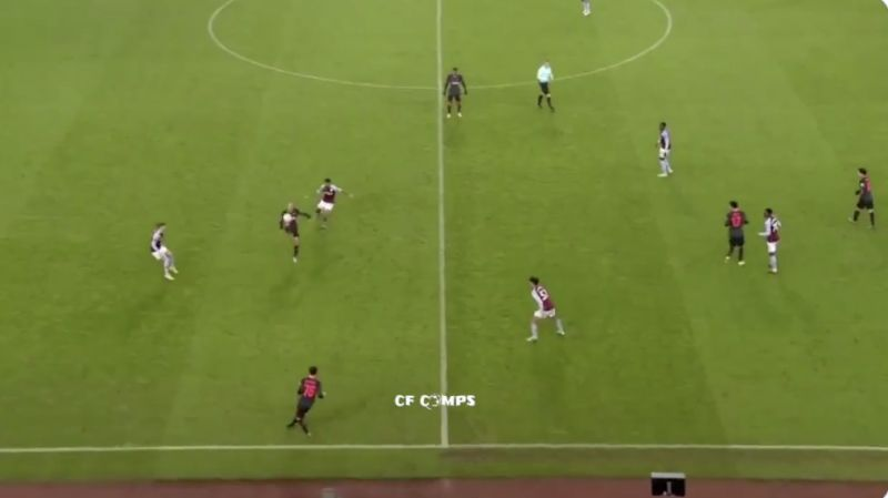 (Video) Thiago's no-look backwards hook pass v Aston Villa you probably missed