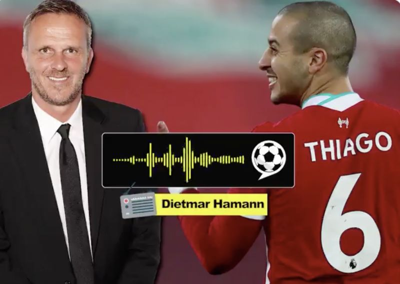 (Video) Didi Hamann says Thiago is a problem and 'doesn't play the Liverpool way'