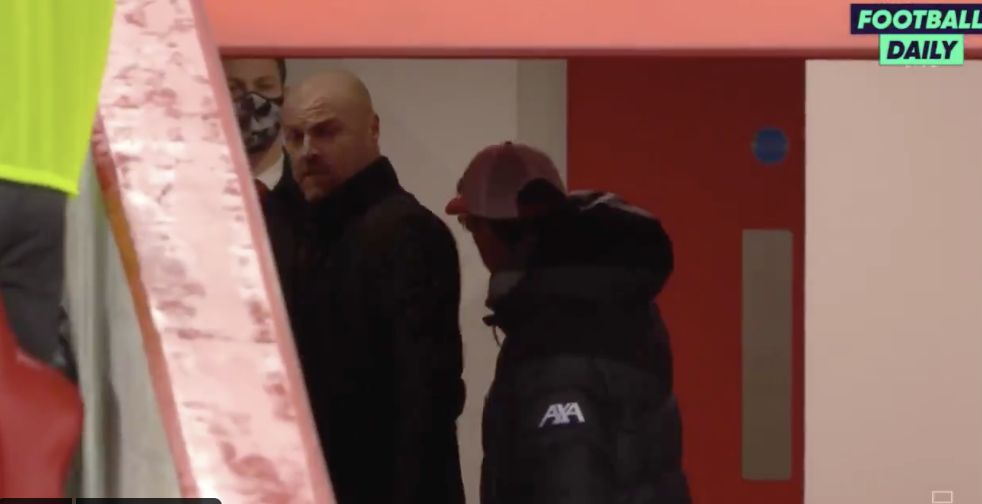 (Video) Klopp goes crazy at Dyche in half-time tunnel row following on-field scrap
