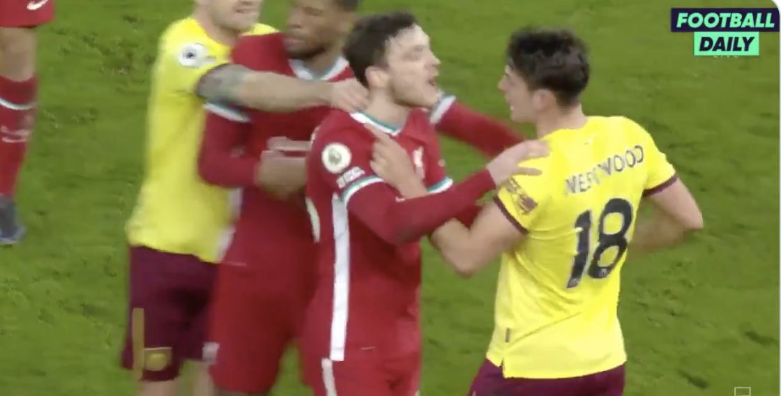 (Video) Robbo and Westwood have it out in half-time Anfield scuffle