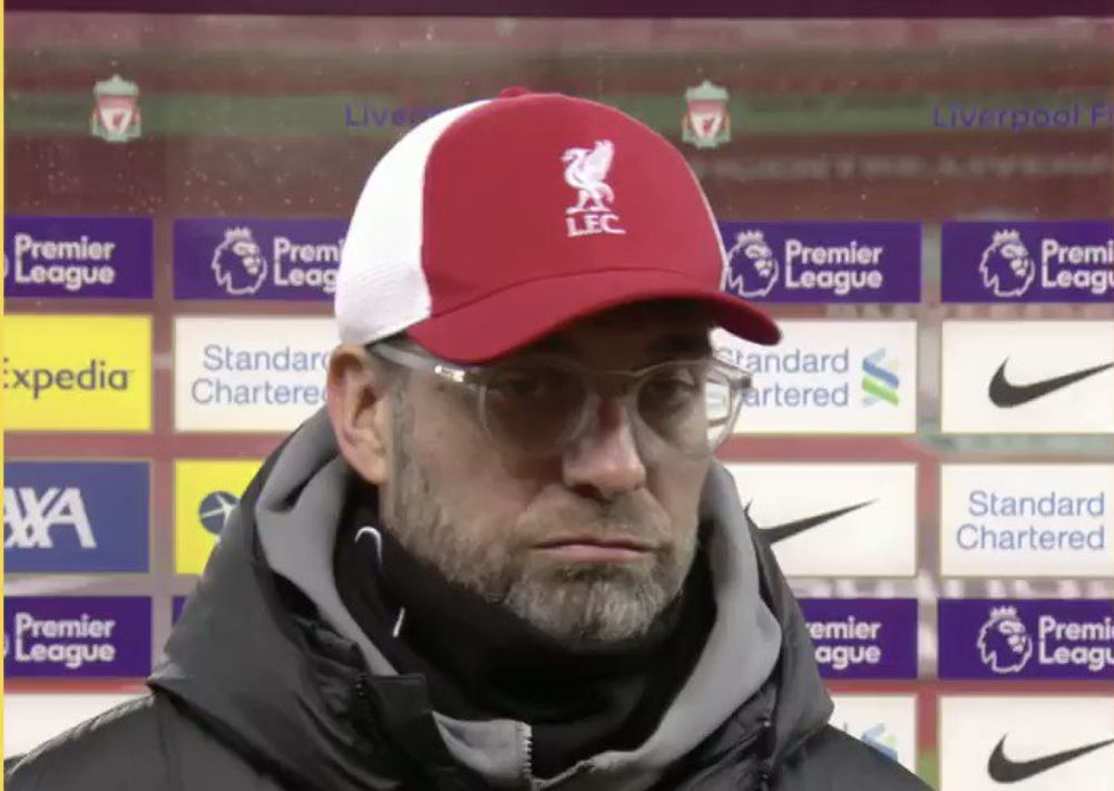Klopp says title race irrelevant when Liverpool have had 90 attempts without scoring