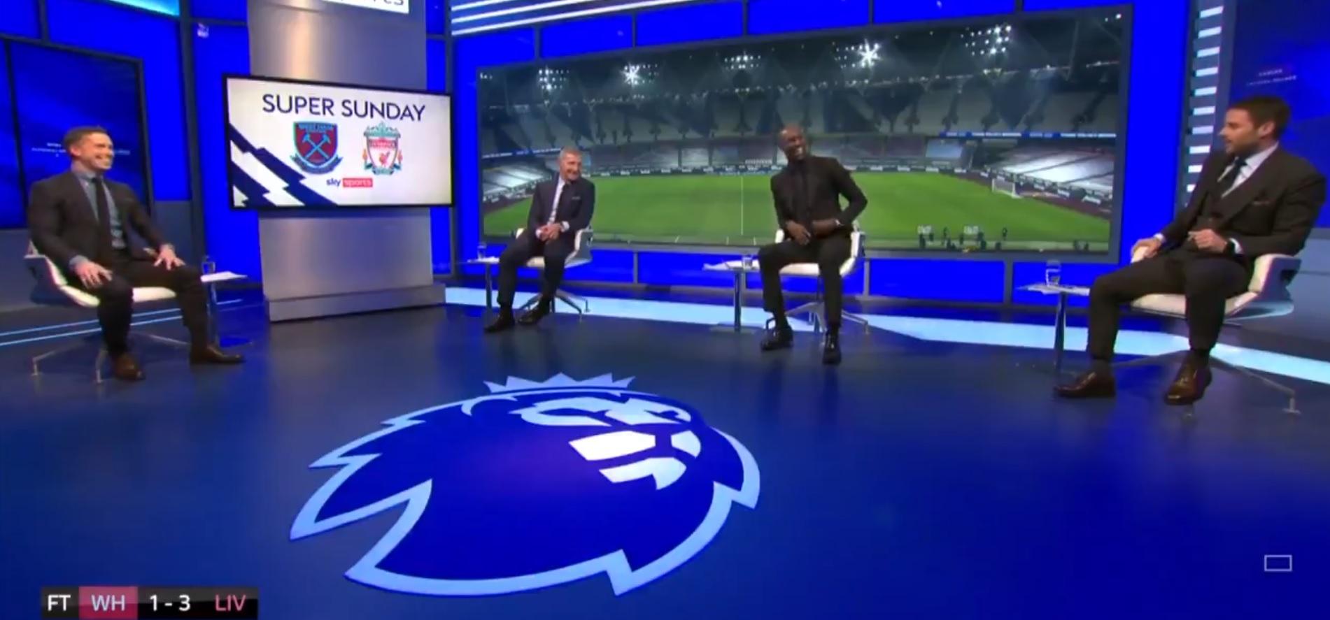 (Video) Pundits with bizarre chat over Salah greed despite forward registering two goals v West Ham