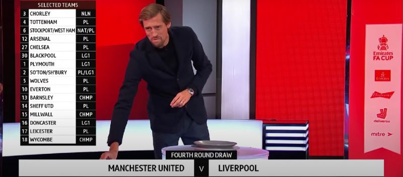 (Video) Funny: Crouch apologises to Liverpool & Man Utd fans after FA Cup draw
