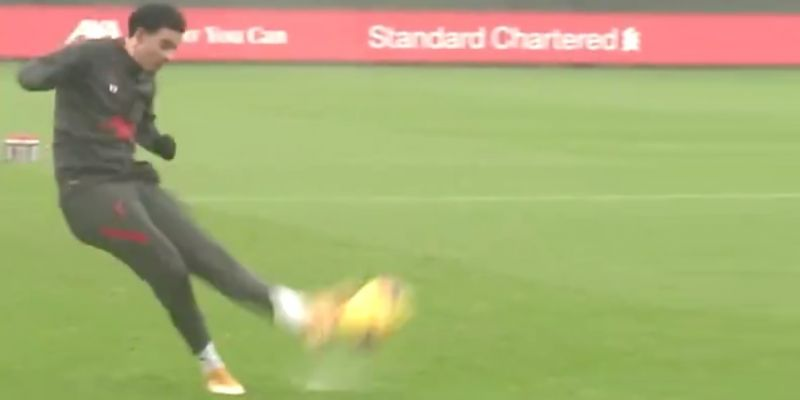 (Video) Jones bags sublime free-kick with weak foot in Liverpool training – his reaction is gold