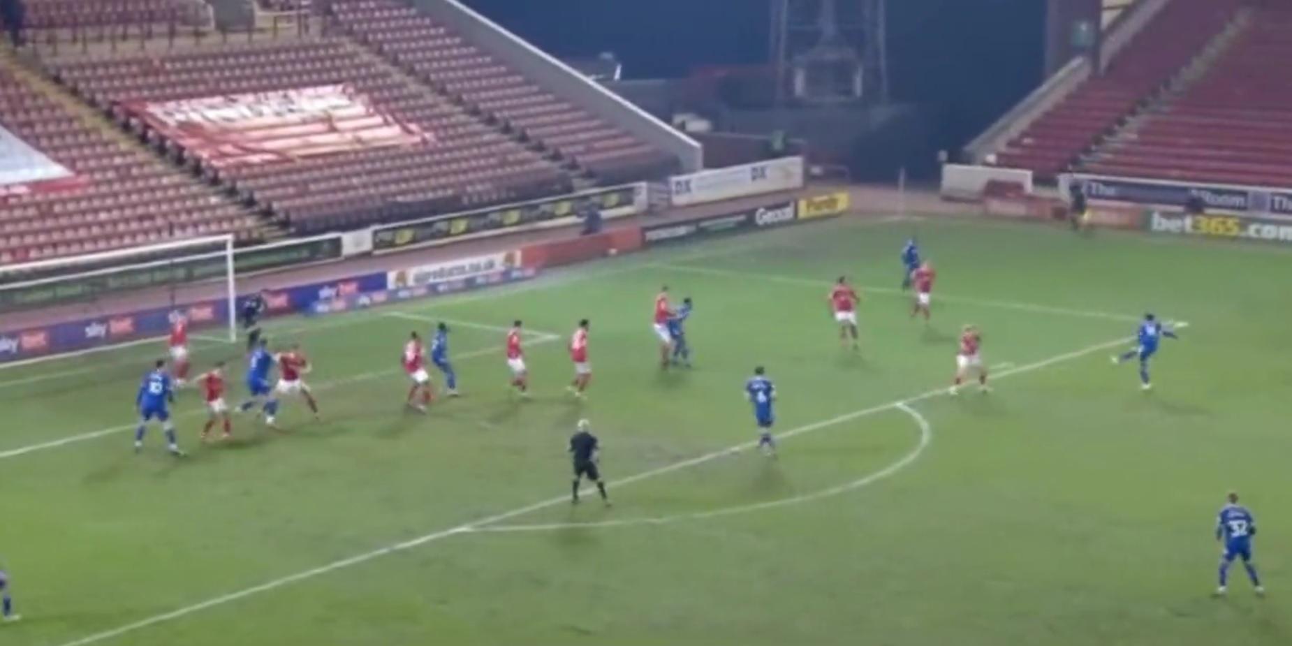 (Video) Liverpool loanee Sheyi Ojo dedicates goal to Sol Bamba