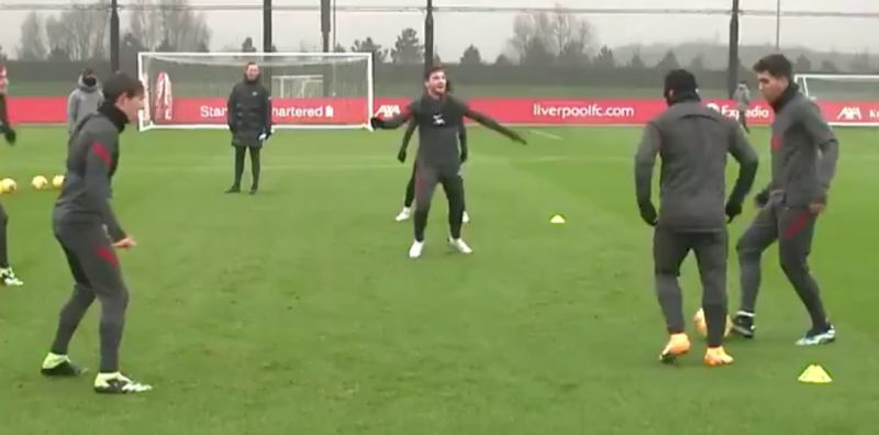 (Video) Robbo cracks up Liverpool squad as Shaqiri & co. dominate training drill