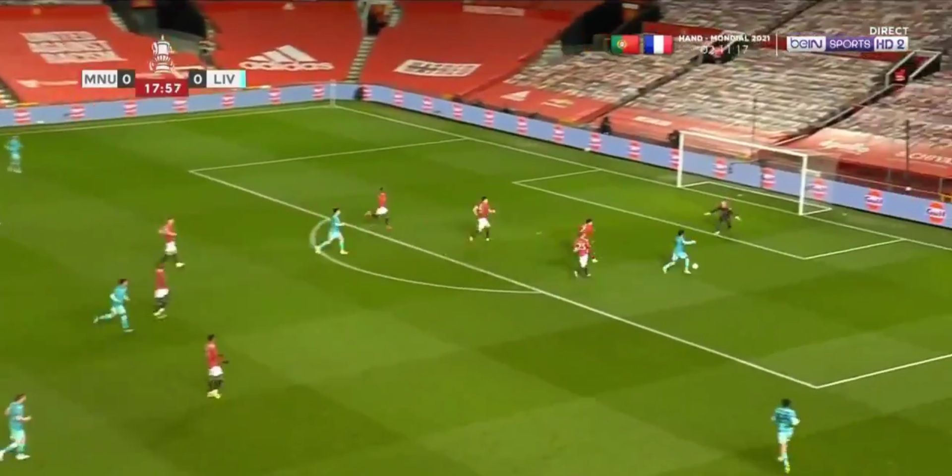 (Video) Salah puts Liverpool ahead with tidy finish as Firmino splits United defence in two