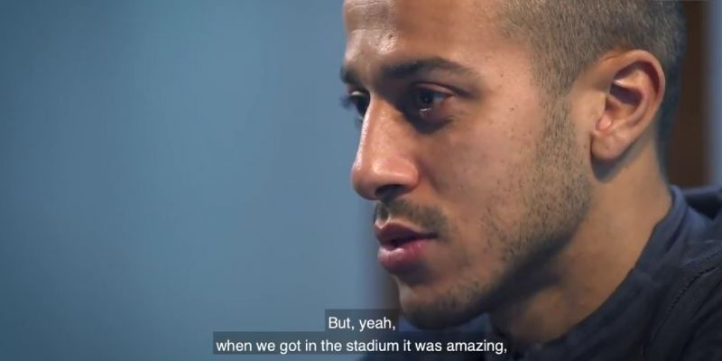 """(Video) Thiago reveals first thoughts on """"amazing"""" Liverpool fans"""