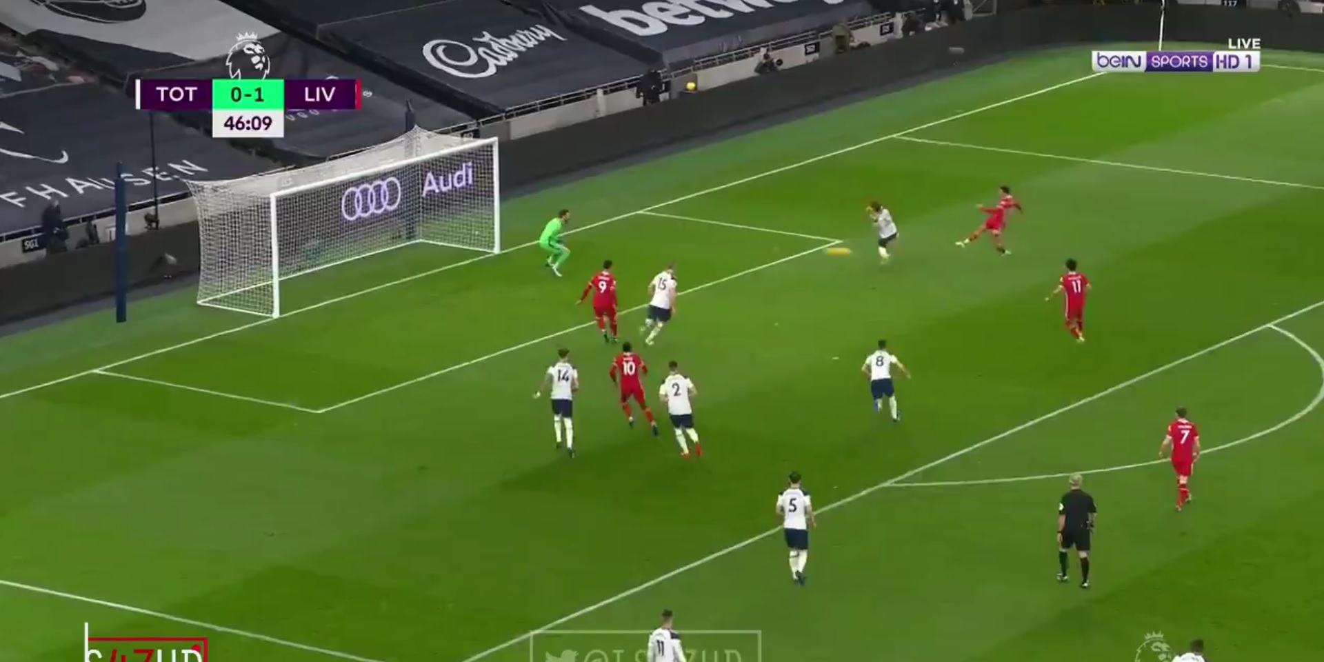 (Video) Trent capitalises on Lloris error to extend Liverpool's lead with thunderous goal