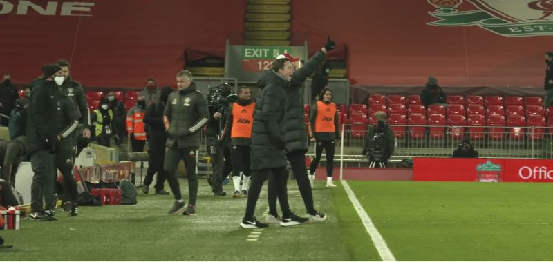(Video) Lijnders looks like he wants to fight Tierney at HT; waits for ref outside Anfield tunnel