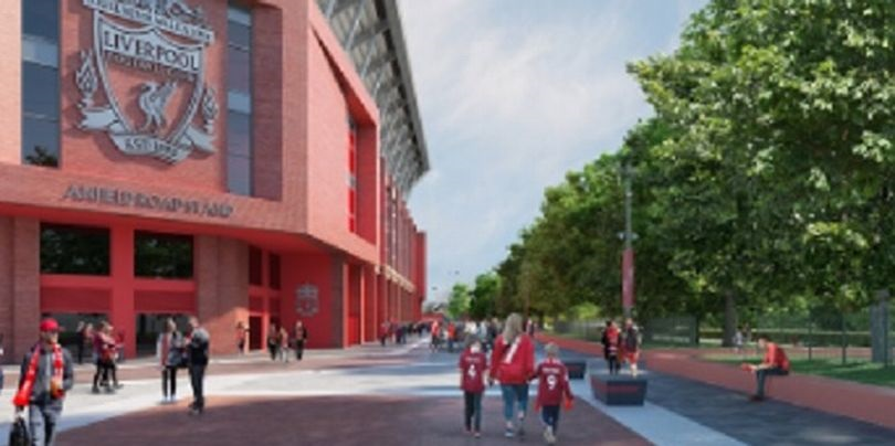 (Image) Liverpool release updated picture of Anfield Road exterior plans