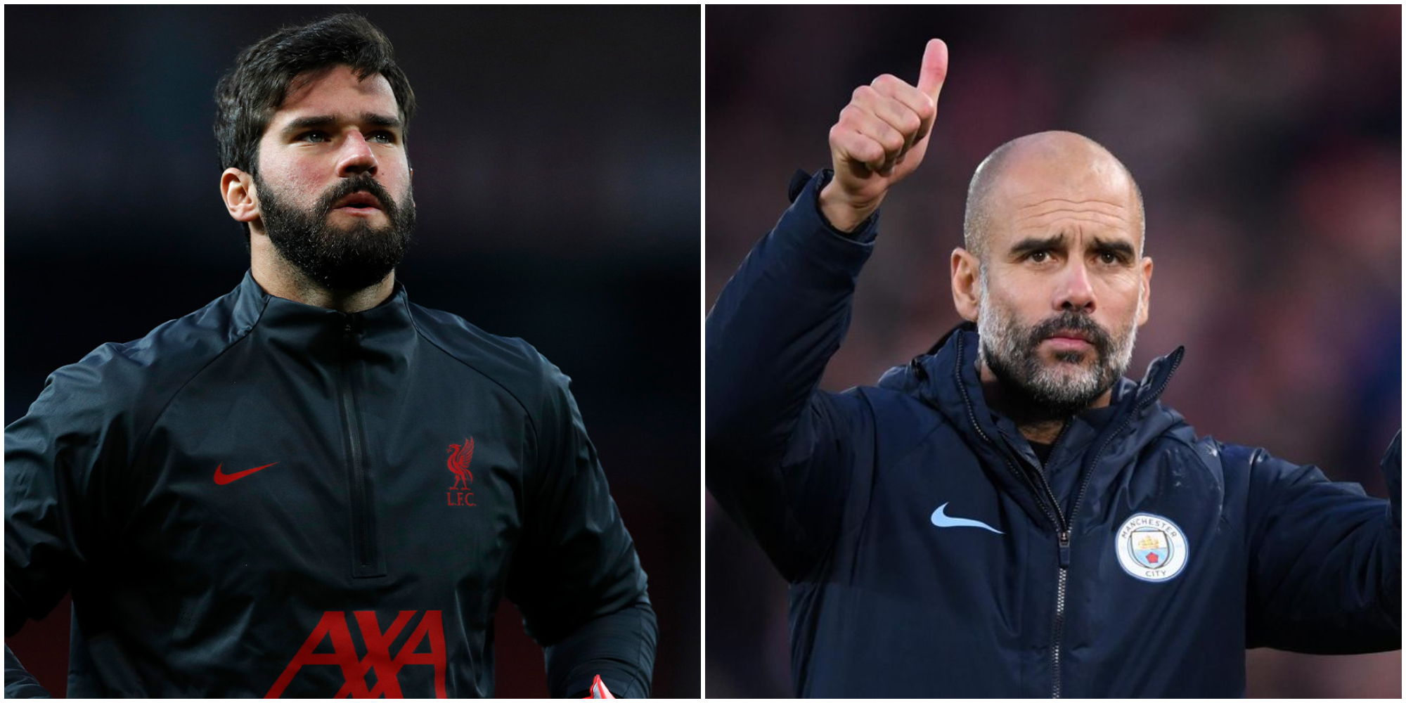 Pep Guardiola's heartfelt message of support for Alisson Becker after father's death