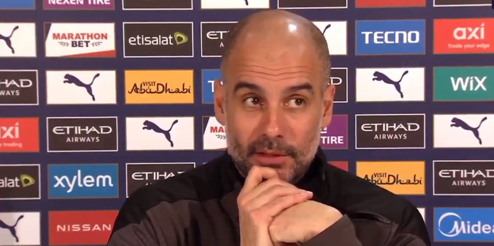 (Video) Guardiola says 'average players' can only win one title; admits having more money has funded several for City