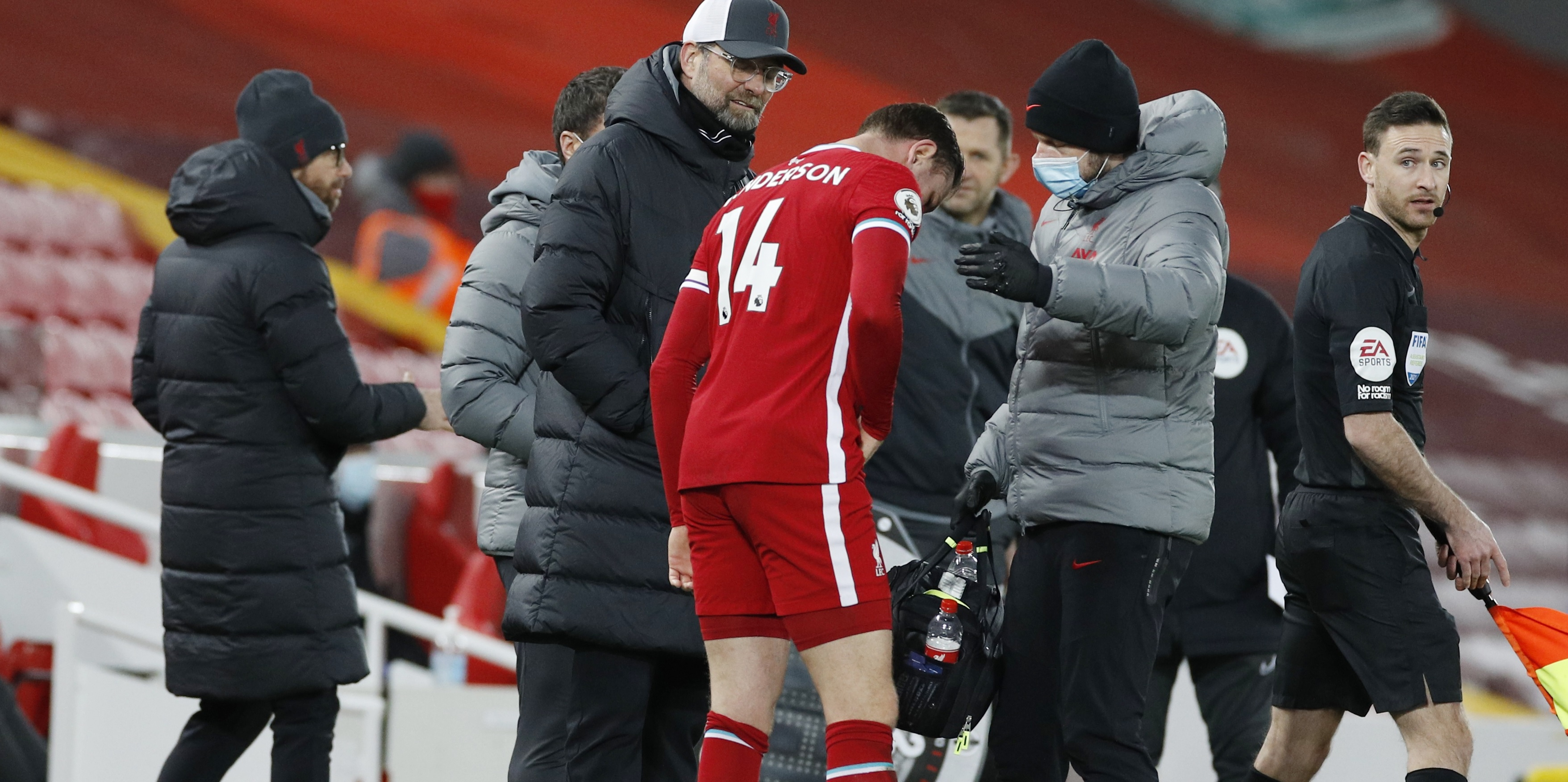 Liverpool fans react to latest injury setback with Henderson subbed before half-time after pulling hamstring