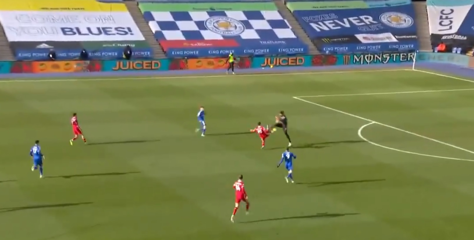 (Video) Kabak and Alisson collide in disastrous mix up to hand Leicester open goal