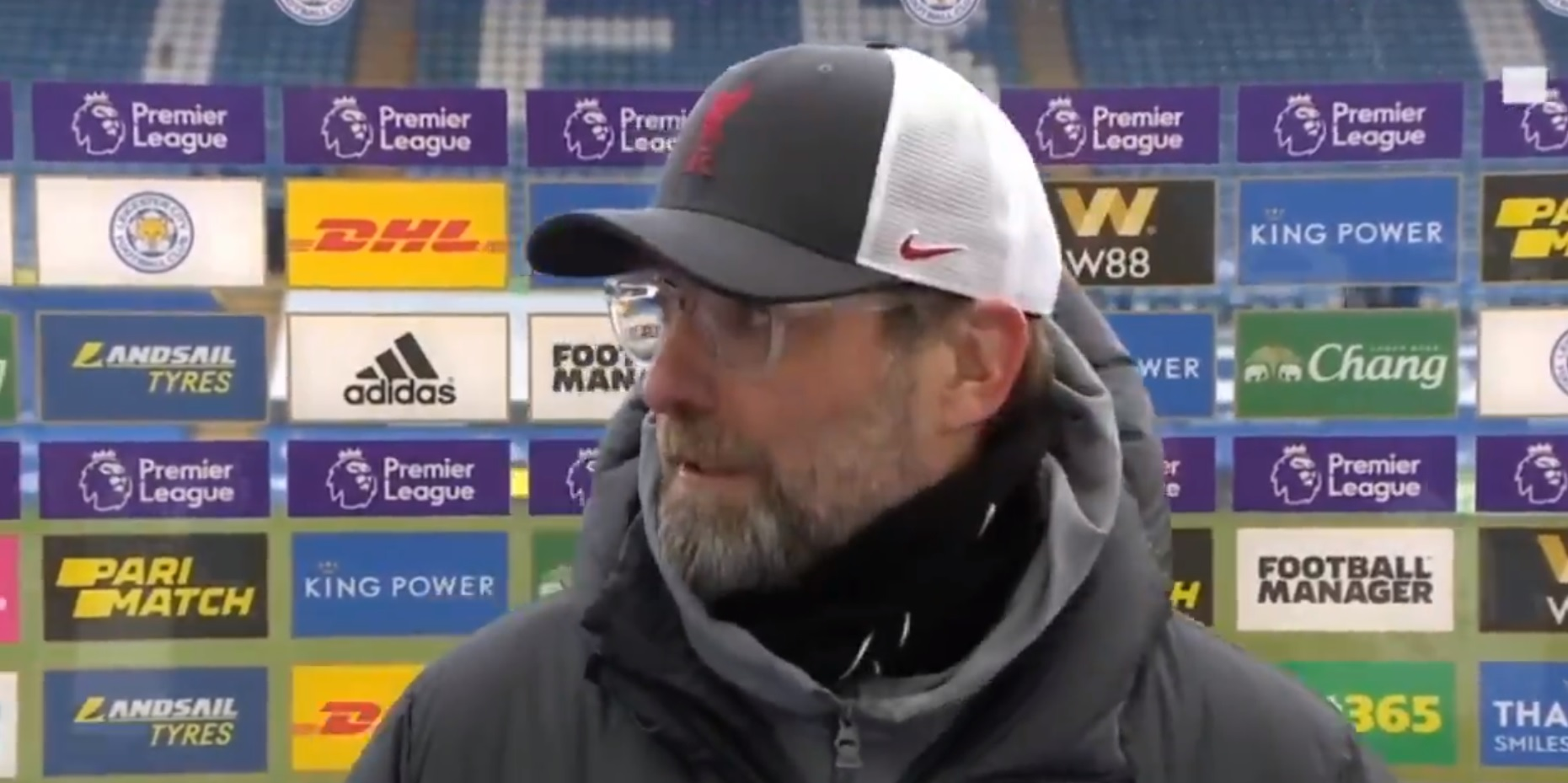 (Video) 'Looks like a clear offside' – Klopp disputes game-changing VAR call that awarded Leicester's equaliser