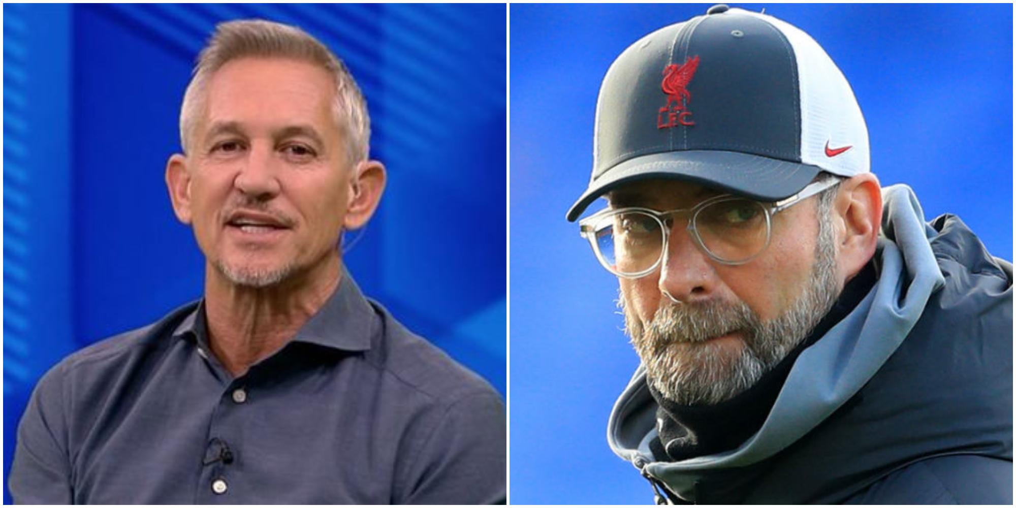 Gary Lineker gets behind Jurgen Klopp; says German's critics 'don't have a clue'