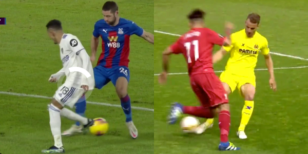 (Video) LFC target Raphinha copies Firmino's iconic spin as Cahill sent to the shadow realm