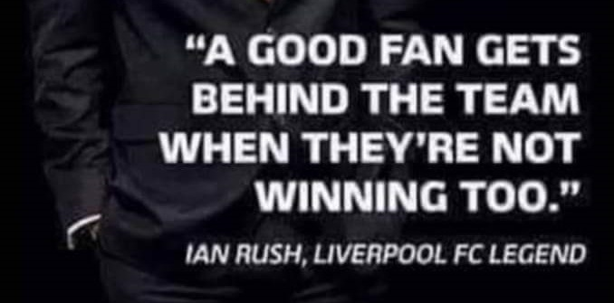 (Image) Liverpool legend Ian Rush calls for fans to get behind the team