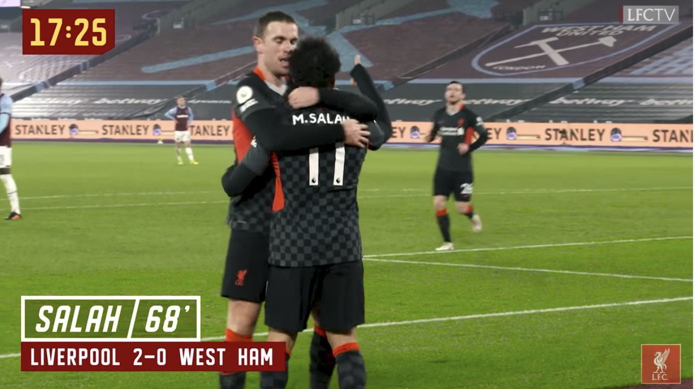 (Video) Hendo's X-Rated reaction to Mo Salah's wonder-goal v West Ham is brilliant