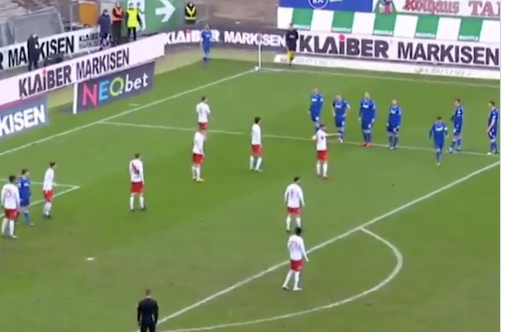 (Video) Insane corner attempt in German 2nd division goes viral; LFC's current set-pieces stale