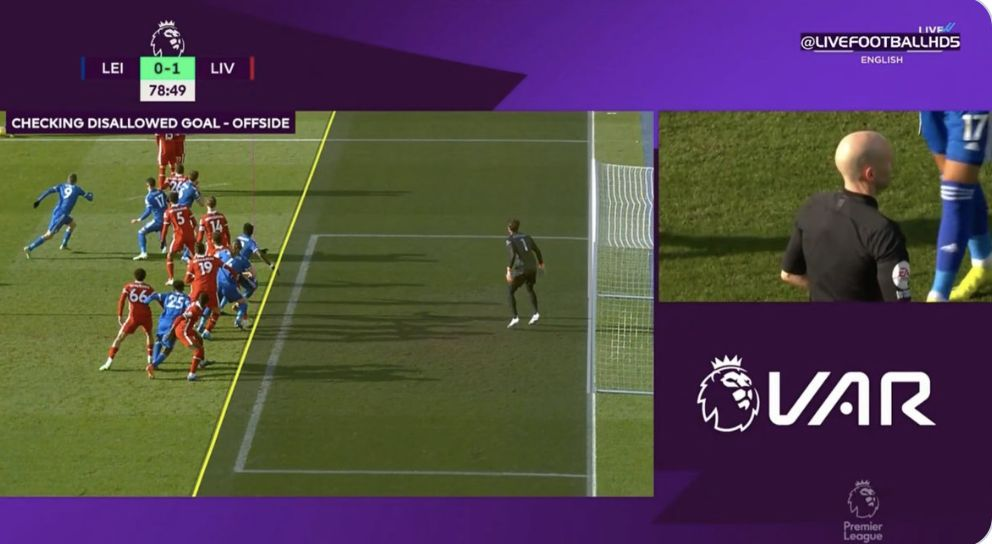 (Video) VAR awards Leicester goal despite it looking like Amartey was a yard offside