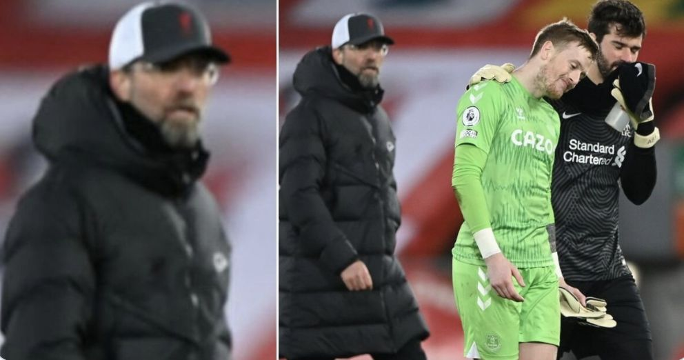 The Alisson/Pickford picture has caused quite a stir on Twitter