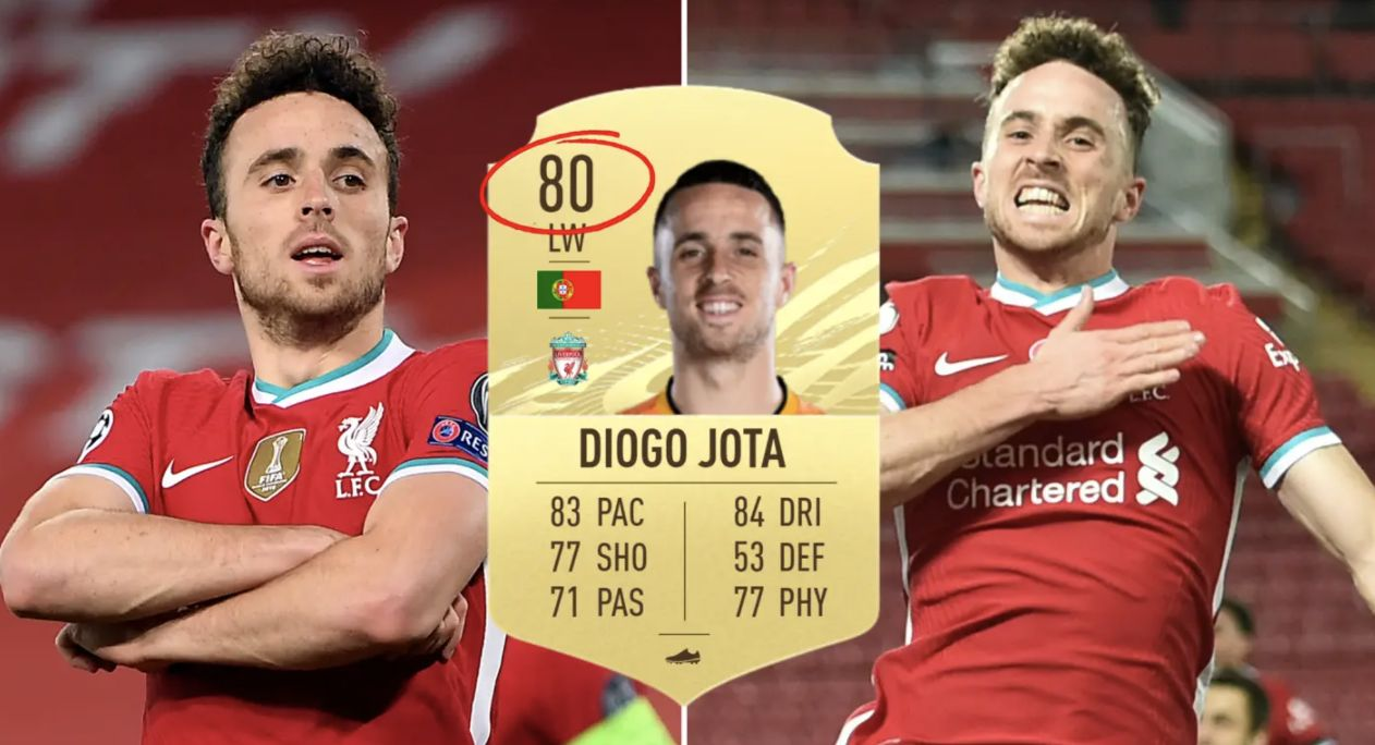 (Video) Diogo Jota 'quick sells' Everton ace to make LFC fans laugh on Twitter