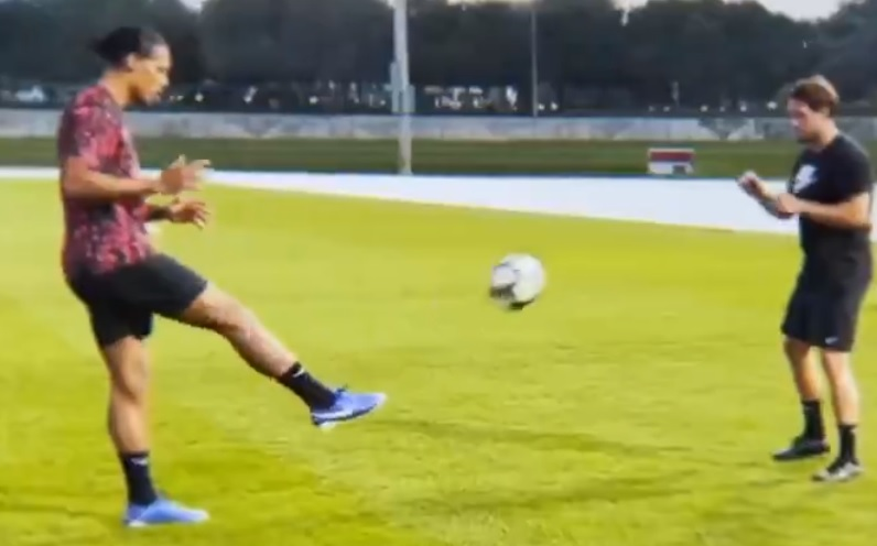 (Video) Van Dijk hits Twitter with latest fitness update in Dubai training clip