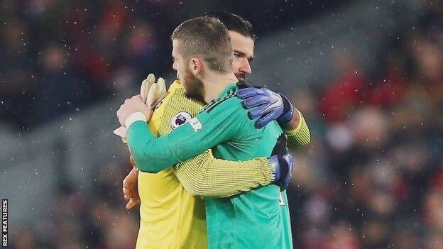 David de Gea offers support for LFC goalkeeper Alisson after dad's death