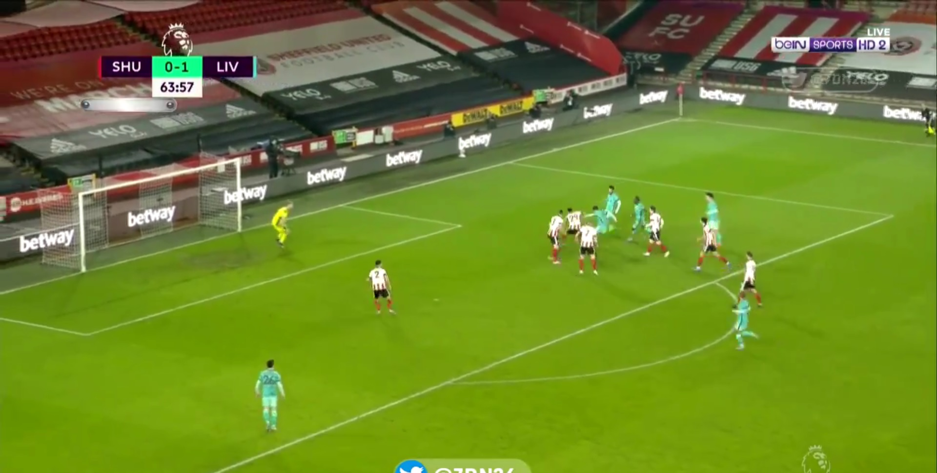 (Video) Firmino bags delightful deflected goal to put Liverpool 2-0 up